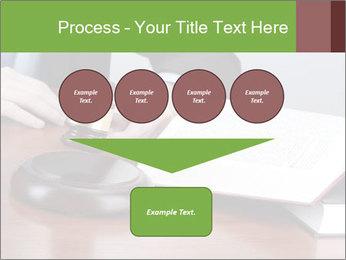 Wooden gavel PowerPoint Template - Slide 93