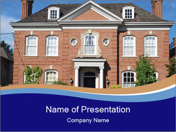 Large House PowerPoint Template - Slide 1