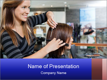 Female customer PowerPoint Template