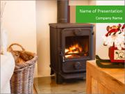 Christmas fireplace PowerPoint Template