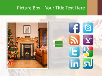 Christmas fireplace PowerPoint Template - Slide 21