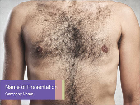 Man's chest PowerPoint Template