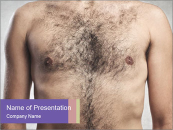 Man's chest PowerPoint Template - Slide 1