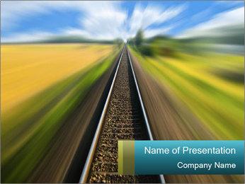 Railway track PowerPoint Template - Slide 1