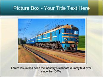 Railway track PowerPoint Template - Slide 15