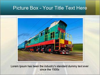 Railway track PowerPoint Template - Slide 16