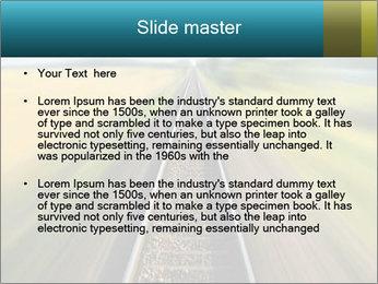 Railway track PowerPoint Template - Slide 2