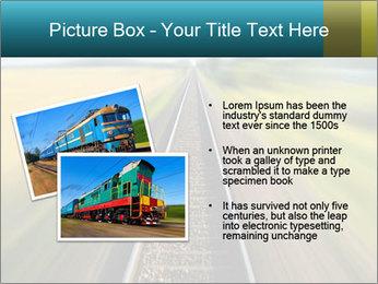 Railway track PowerPoint Template - Slide 20