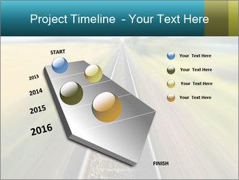 Railway track PowerPoint Template - Slide 26