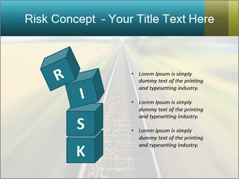 Railway track PowerPoint Template - Slide 81