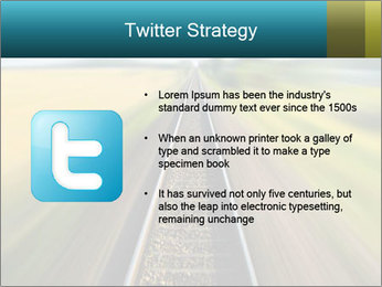 Railway track PowerPoint Template - Slide 9