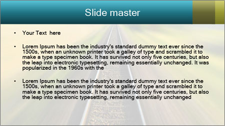 Railway track PowerPoint Template