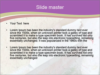 Worker placing PowerPoint Template