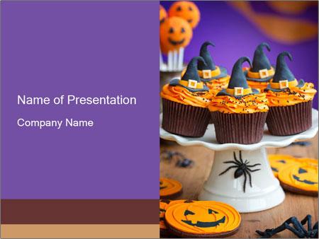 Halloween cupcakes PowerPoint Template