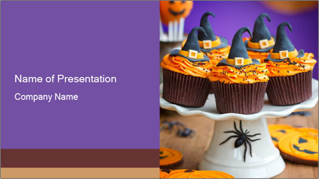 Halloween cupcakes PowerPoint Template
