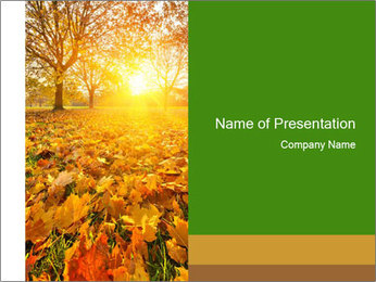 Colorful foliage PowerPoint Template
