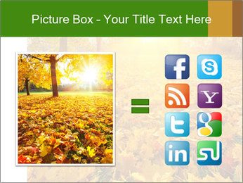 Colorful foliage PowerPoint Template - Slide 21
