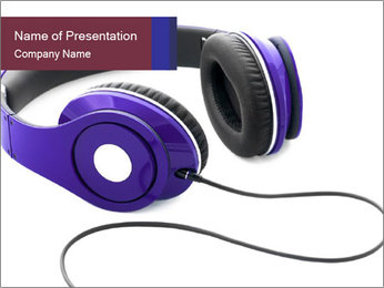 Headphones PowerPoint Template - Slide 1