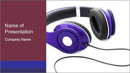 Headphones PowerPoint Template