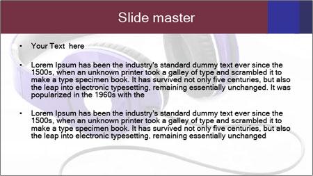 Headphones PowerPoint Template - Slide 2