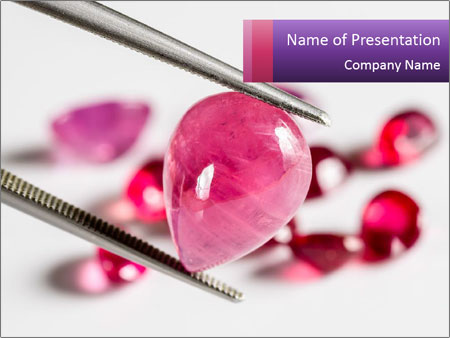 Ruby gemstone PowerPoint Template