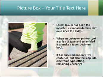 Young sportsman drinking PowerPoint Template - Slide 13