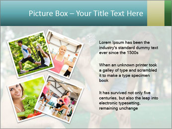Young sportsman drinking PowerPoint Template - Slide 23