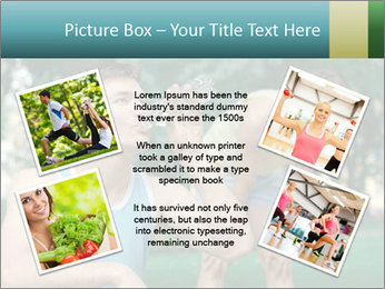 Young sportsman drinking PowerPoint Template - Slide 24