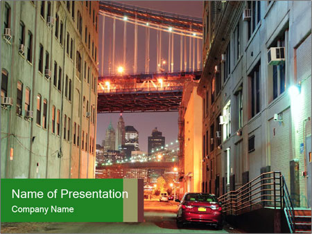 Brooklyn street PowerPoint Template