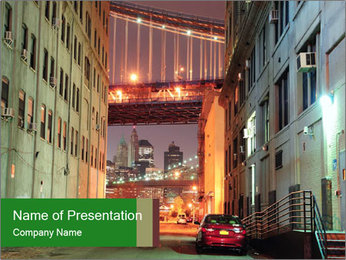 Brooklyn street PowerPoint Template - Slide 1