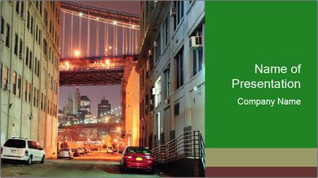 Brooklyn street PowerPoint Template