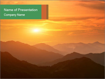 Sunrise PowerPoint Template - Slide 1