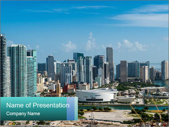 Downtown Miami PowerPoint Template - Slide 1