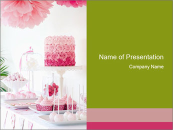 Dessert table PowerPoint Template - Slide 1