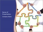 Hands holding puzzle PowerPoint Template