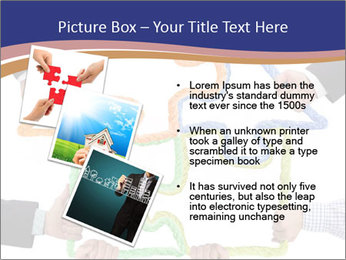 Hands holding puzzle PowerPoint Template - Slide 17