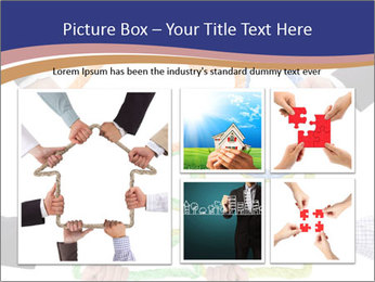Hands holding puzzle PowerPoint Template - Slide 19