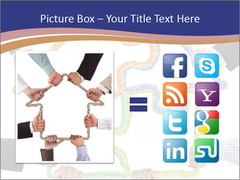 Hands holding puzzle PowerPoint Template - Slide 21