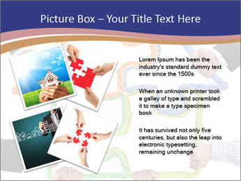 Hands holding puzzle PowerPoint Template - Slide 23