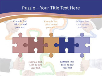 Hands holding puzzle PowerPoint Template - Slide 41