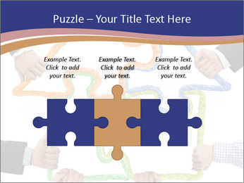 Hands holding puzzle PowerPoint Template - Slide 42