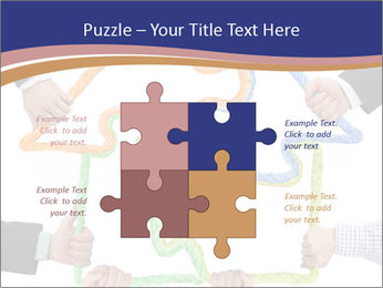 Hands holding puzzle PowerPoint Template - Slide 43