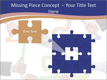 Hands holding puzzle PowerPoint Template - Slide 45