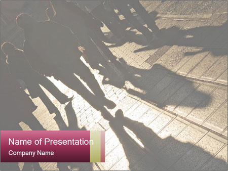 Shadows of people PowerPoint Template