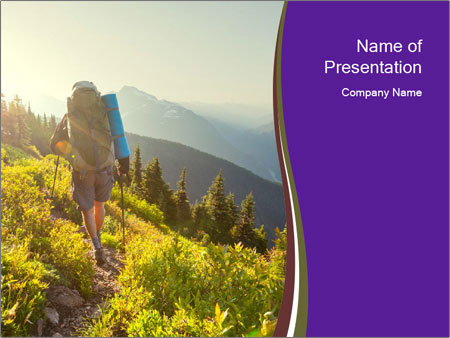 Summer mountains PowerPoint Template