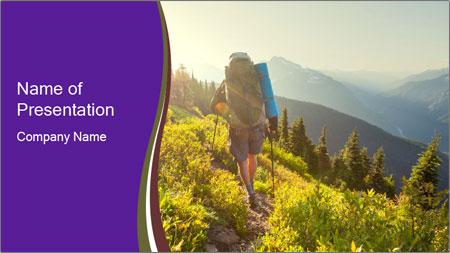 Summer mountains PowerPoint Template