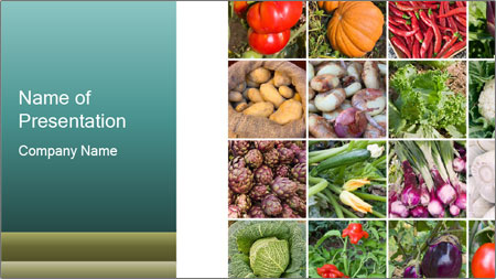 collage of vegetables powerpoint template backgrounds google