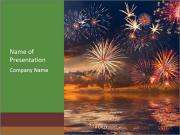 Beautiful colorful holiday fireworks Modèles des présentations  PowerPoint