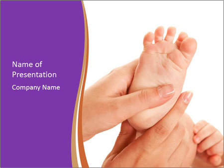 mother making baby foot powerpoint template backgrounds google