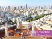 View of Tel-Aviv Modelos de apresentações PowerPoint